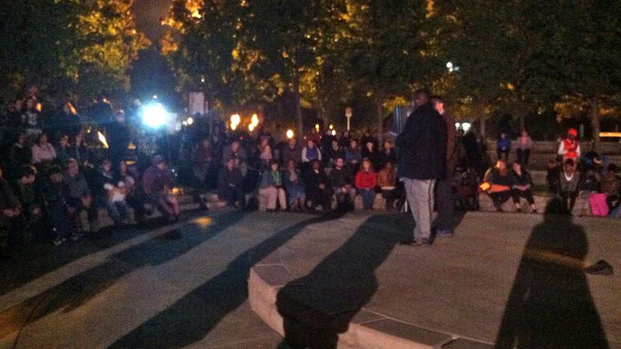 Ferguson vigil in Fresno