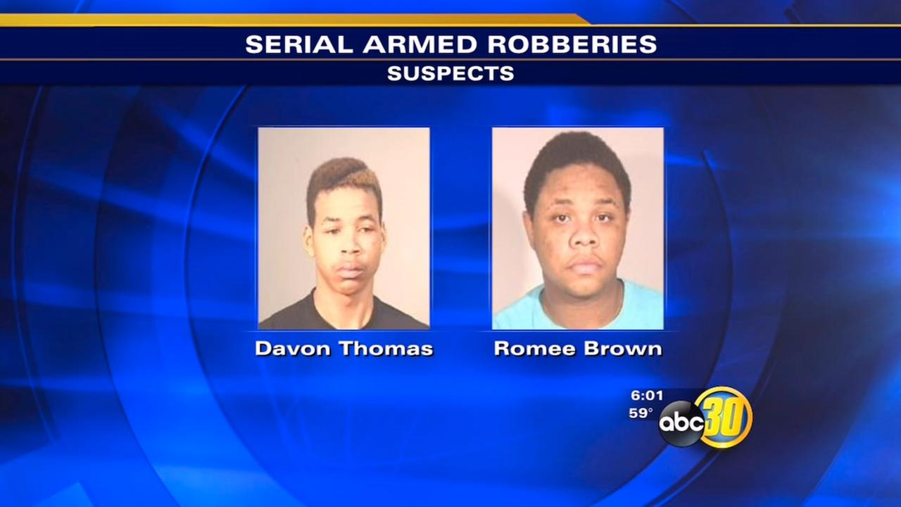 Fresno robberies arrests