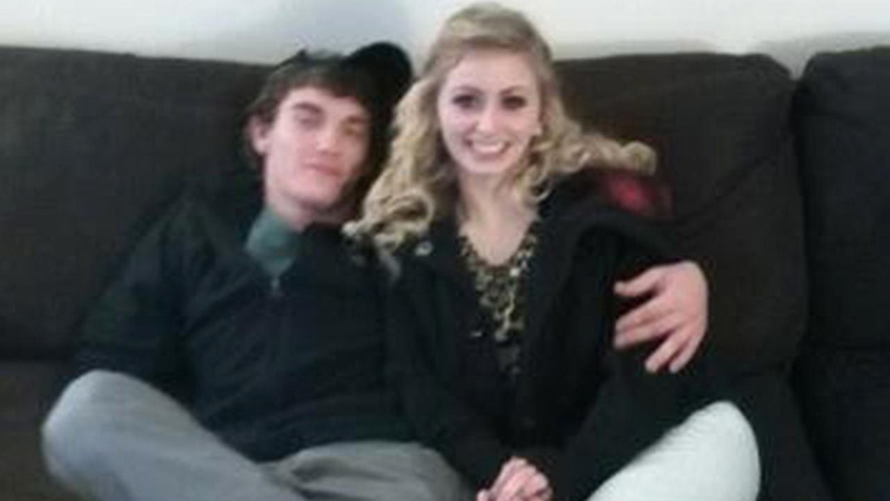 Dalton Hayes poses with his girlfriend Cheyenne Phillips