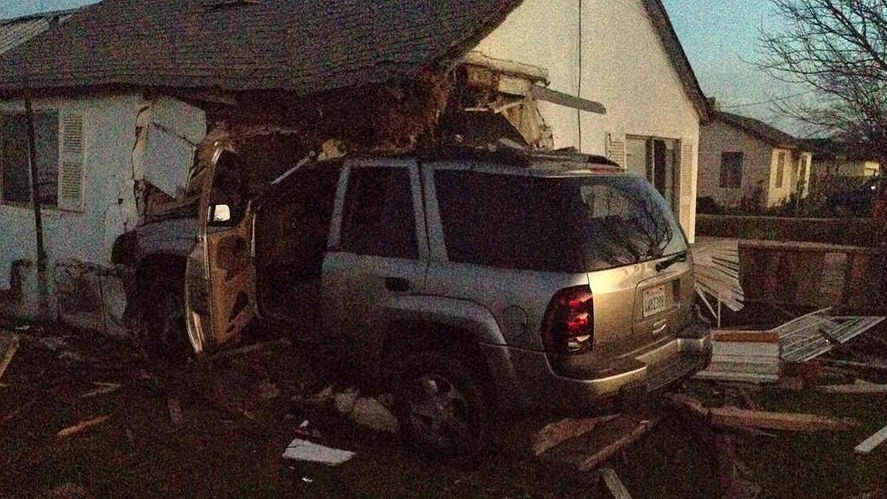 Driver arrested for DUI after SUV plows into Fresno County home