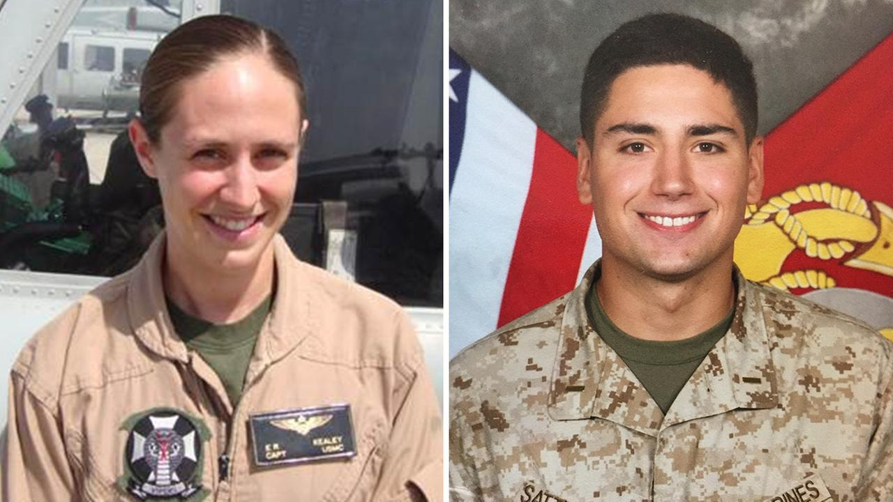 Capt. Elizabeth Kealey (left). 1st Lt. Adam Satterfield (right).