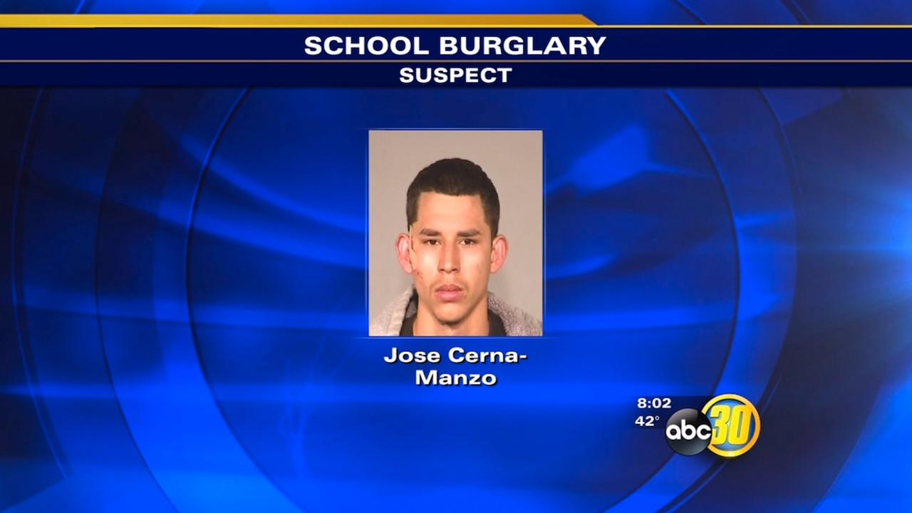 Man arrested in Southwest Fresno school burglary