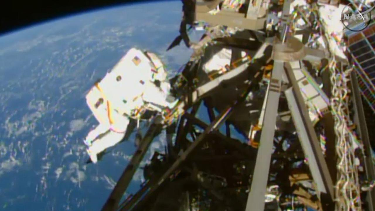 In this image from NASA television astronaut Terry Virts is seen during the third spacewalk outside the International Space Station Sunday March 1, 2015.