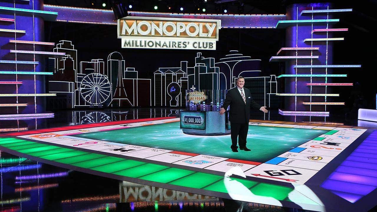 In this undated photo provided by Monopoly Millionaires Club, Bill Gardell hosts the exciting new game show Monopoly Millionaires Club where contestants play for a chance to win $1 million.
