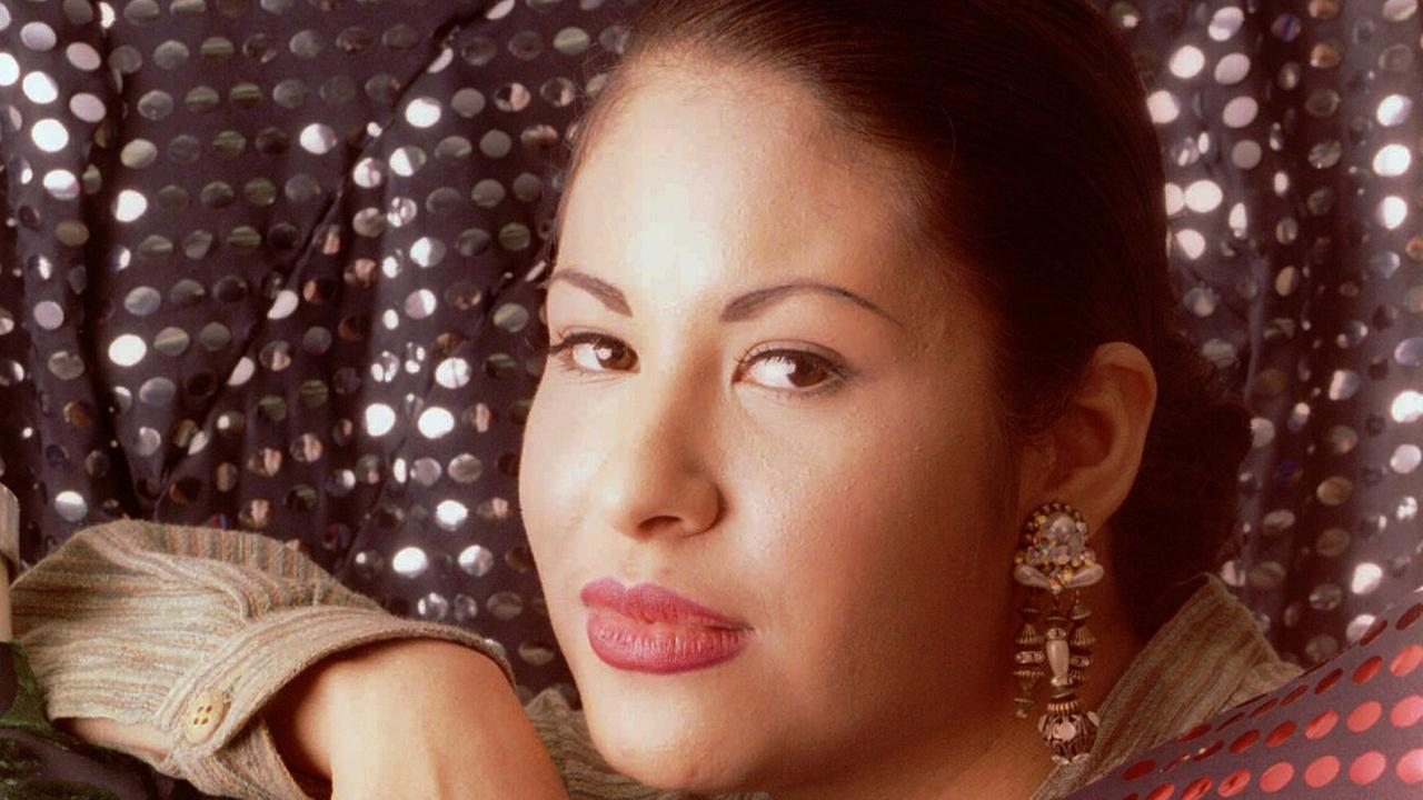 FILE - In this March 7, 1995 file photo, Tejano music star Selena poses in Corpus Christi, Texas.