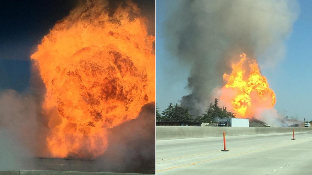 Fire and explosion in Northwest Fresno.