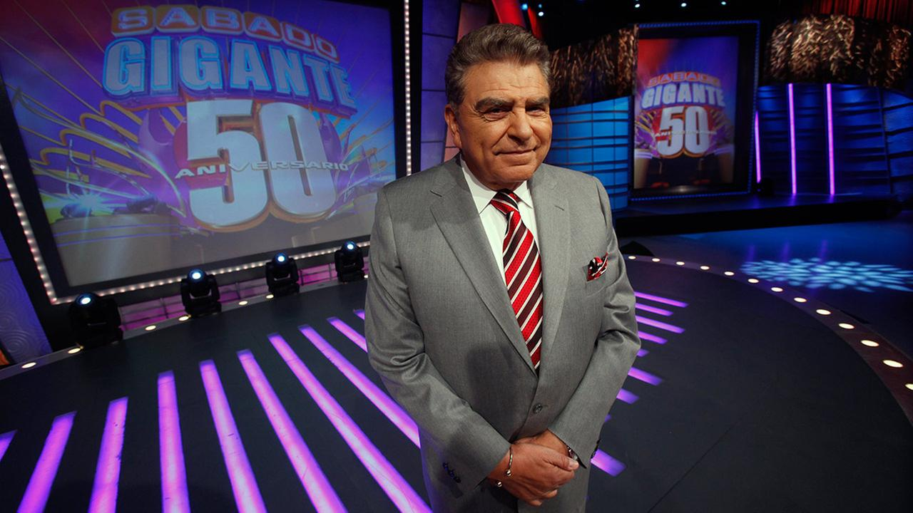 In this photo taken on Feb. 3, 2012, Chilean born host of the Univision network variety show Sabado Gigante, Mario Kreutzberger, popularly known as Don Francisco, poses on the set of his show in Miami.