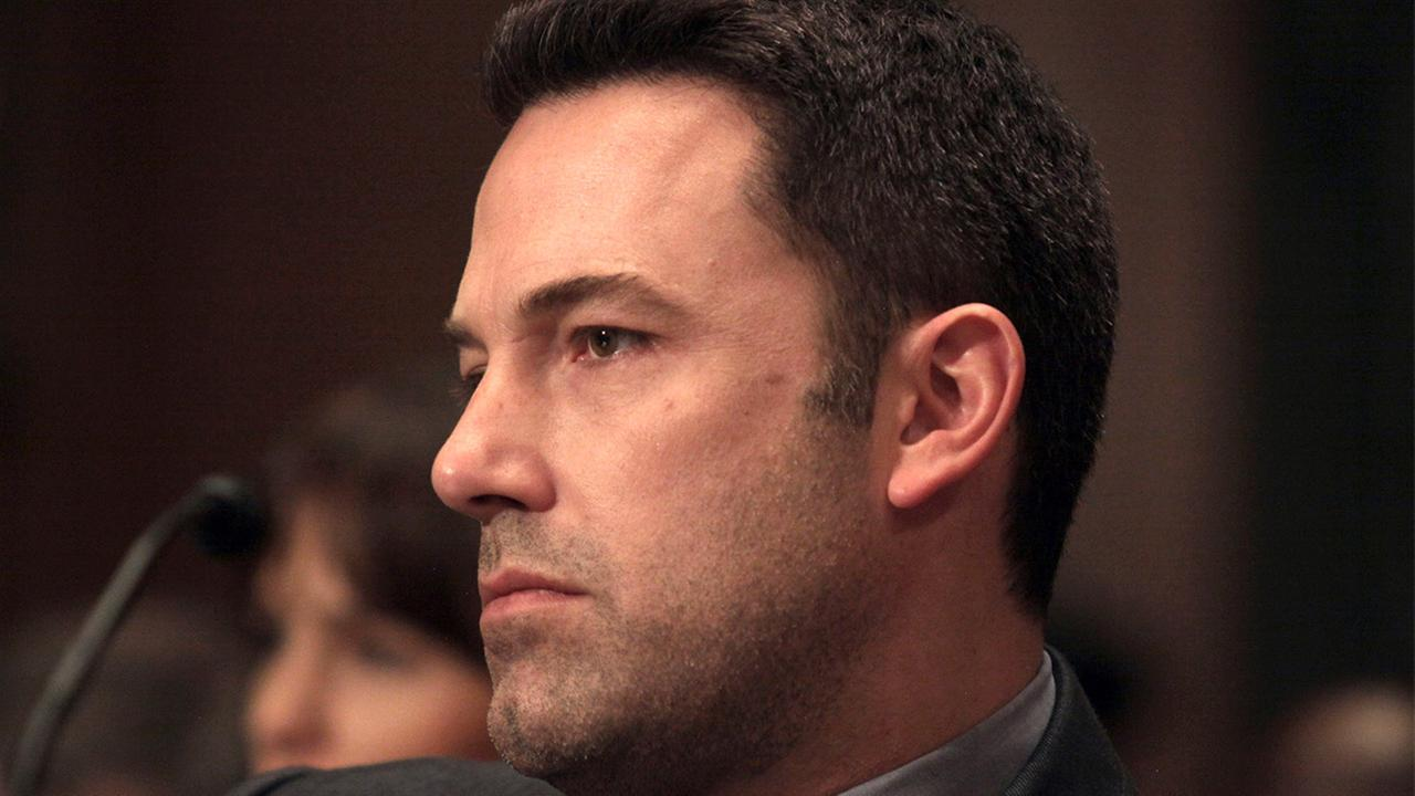 Actor Ben Affleck is seen on Capitol Hill in Washington, Thursday, March 26, 2015, after testifying before the Senate State, Foreign Operations, and Related Programs subcommittee hearing on diplomacy, development and national security.