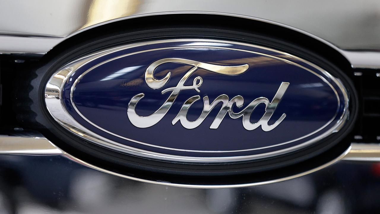 FILE - This file photo taken on Feb. 14, 2013 shows the Ford logo.