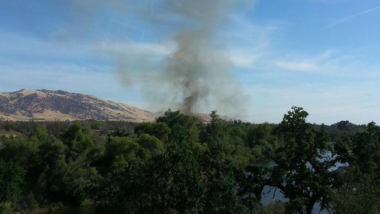 A fire broke out near Avocado Lake in Fresno County on Friday, May 29, 2015.