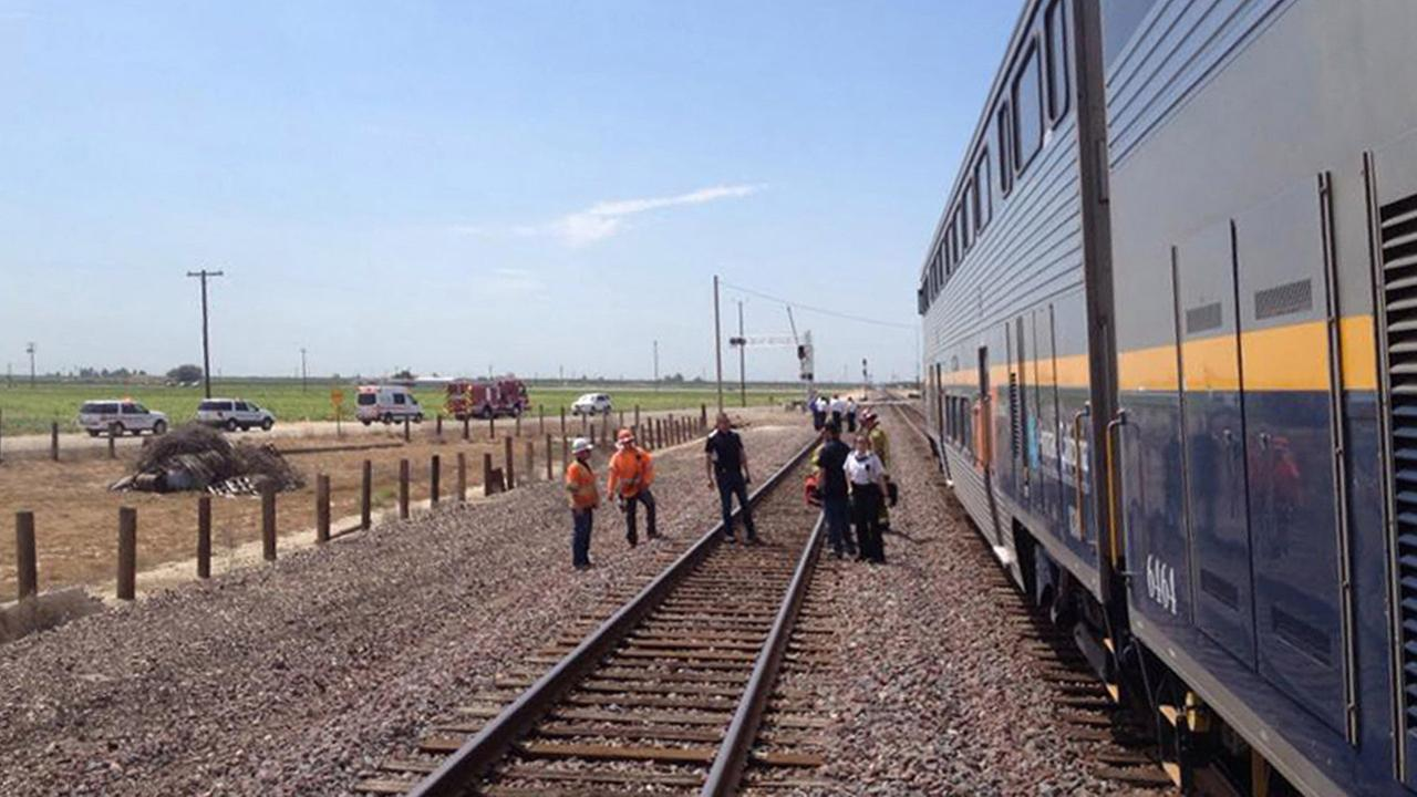 Two people were killed in a crash involving an Amtrak train and a van in Fresno County on Wednesday, June 10, 2015.