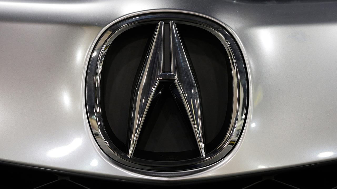 In this Friday, Jan. 18, 2013 photo, shown is an Acura emblem at the Philadelphia Auto Show in Philadelphia.
