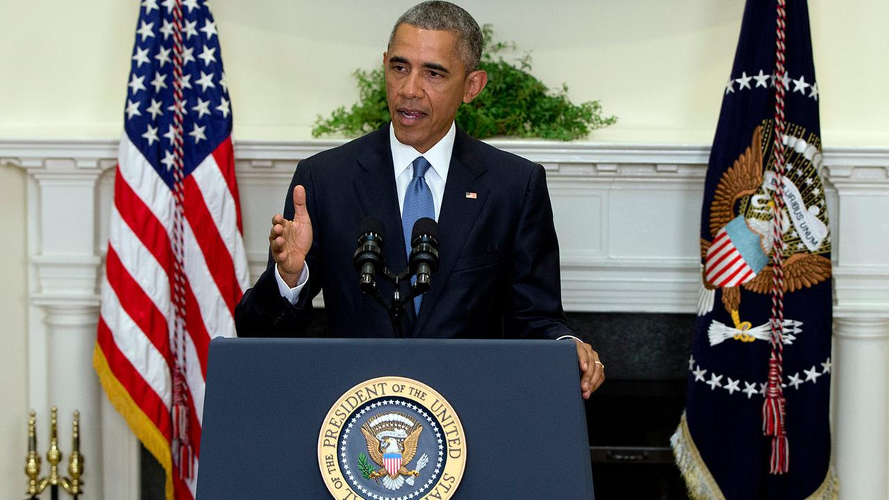 President Barack Obama speaks in the Roosevelt Room of the White House in Washington, Wednesday, June 24, 2015, about the completion of the Hostage Policy Review.