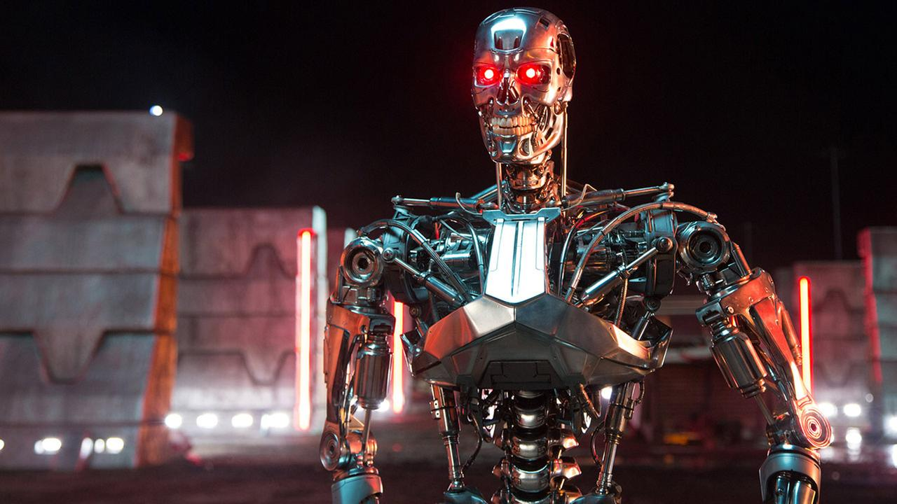This photo provided by Paramount Pictures shows, Series T-800 Robot, in Terminator Genisys, from Paramount Pictures and Skydance Productions.