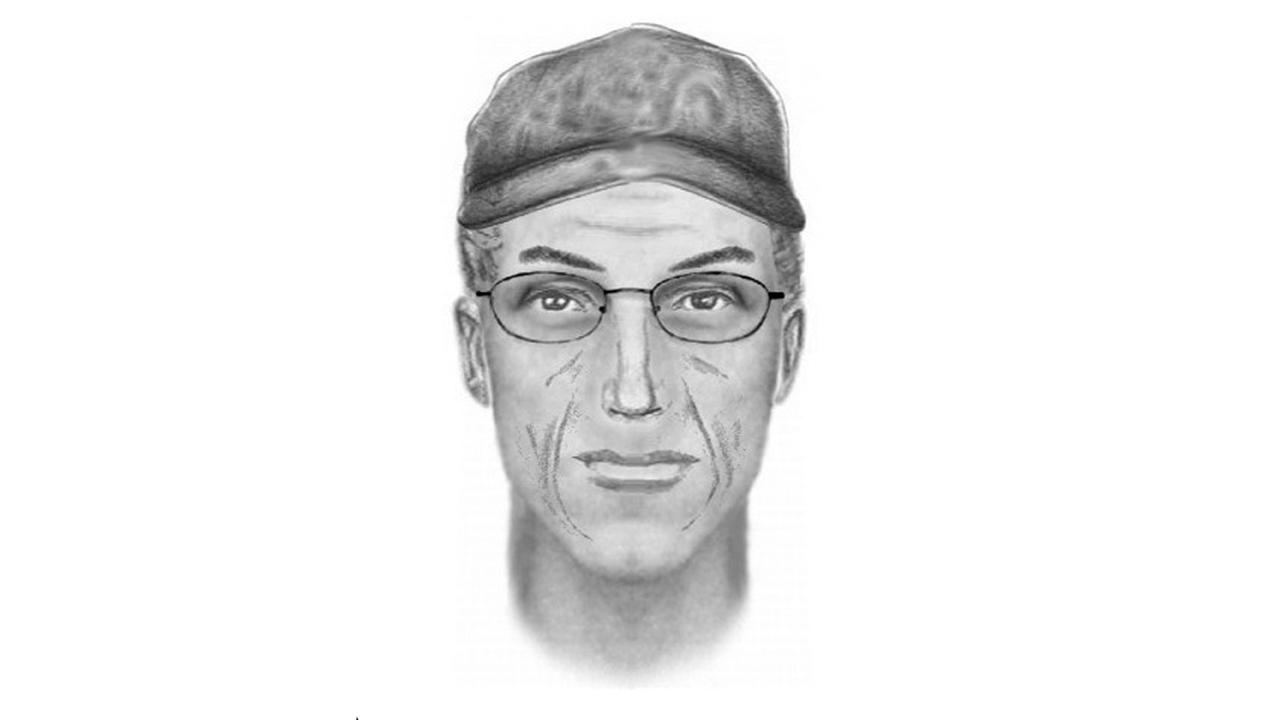 This undated composite sketch provided by the Kern County Sheriffs Office shows the suspect involved in the wounding of police officers in the Kelso Valley, Calif., area on Tuesday, July 28, 2015.