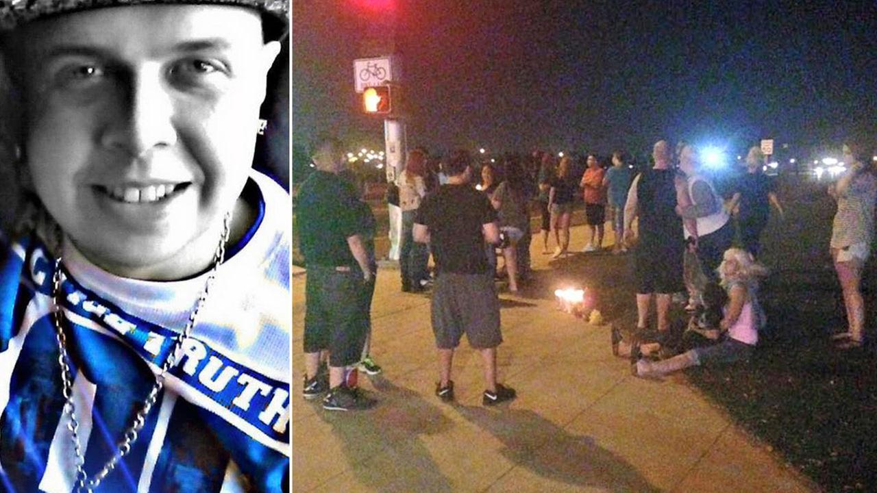 A vigil was held for Daniel Axt, 27, in East Central Fresno on Saturday, Aug. 8, 2015.