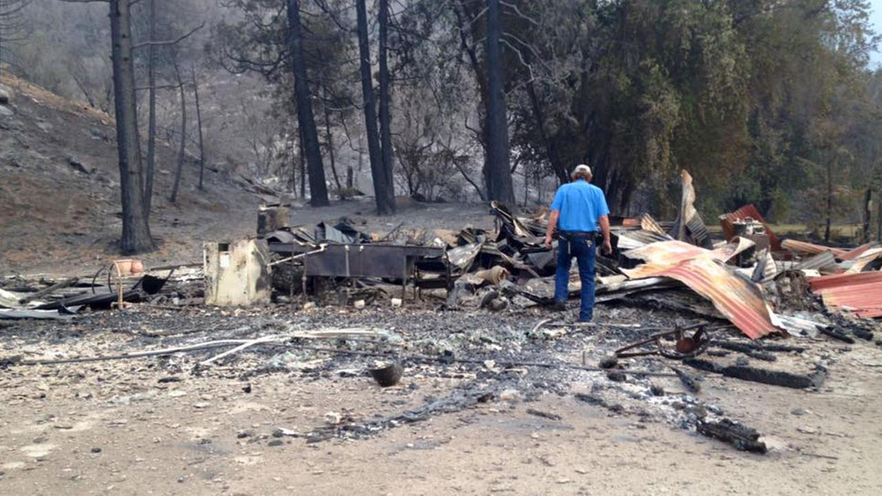 Remains of the Kings Canyon Lodge are seen on Saturday, Aug. 22, 2015.