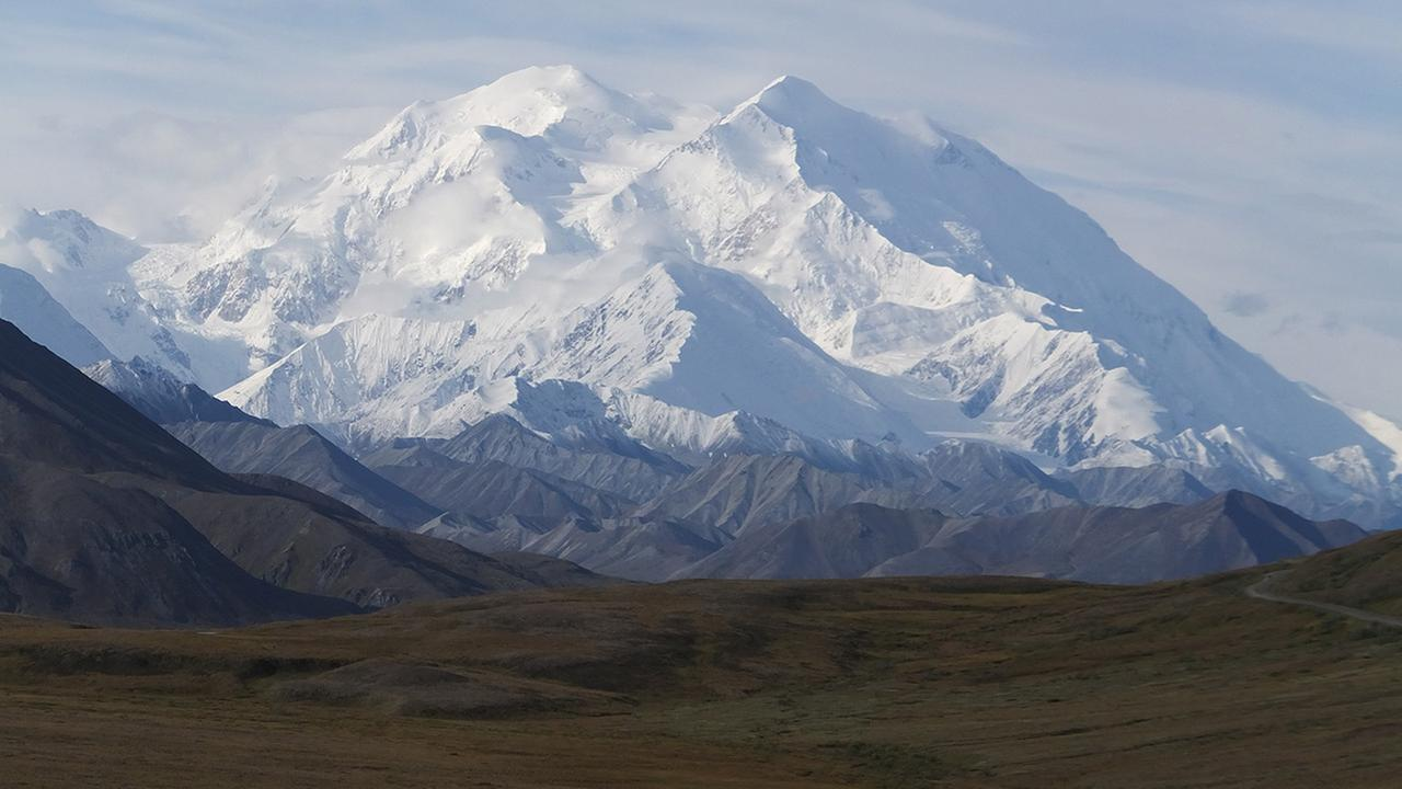After several days of dreary weather, visitors were treated to this view of North Americas tallest mountain, Mount McKinley, on Wednesday, Aug. 27, 2014, in Denali National Park and Preserve, Alaska.
