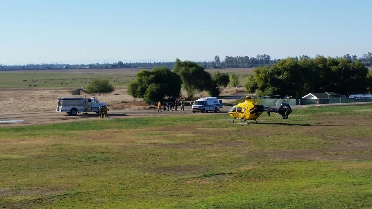 Two victims were taken by helicopter to local hospitals.