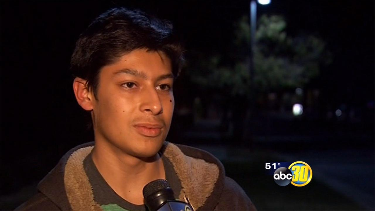 Man chases after crooks who had broken into his SUV and