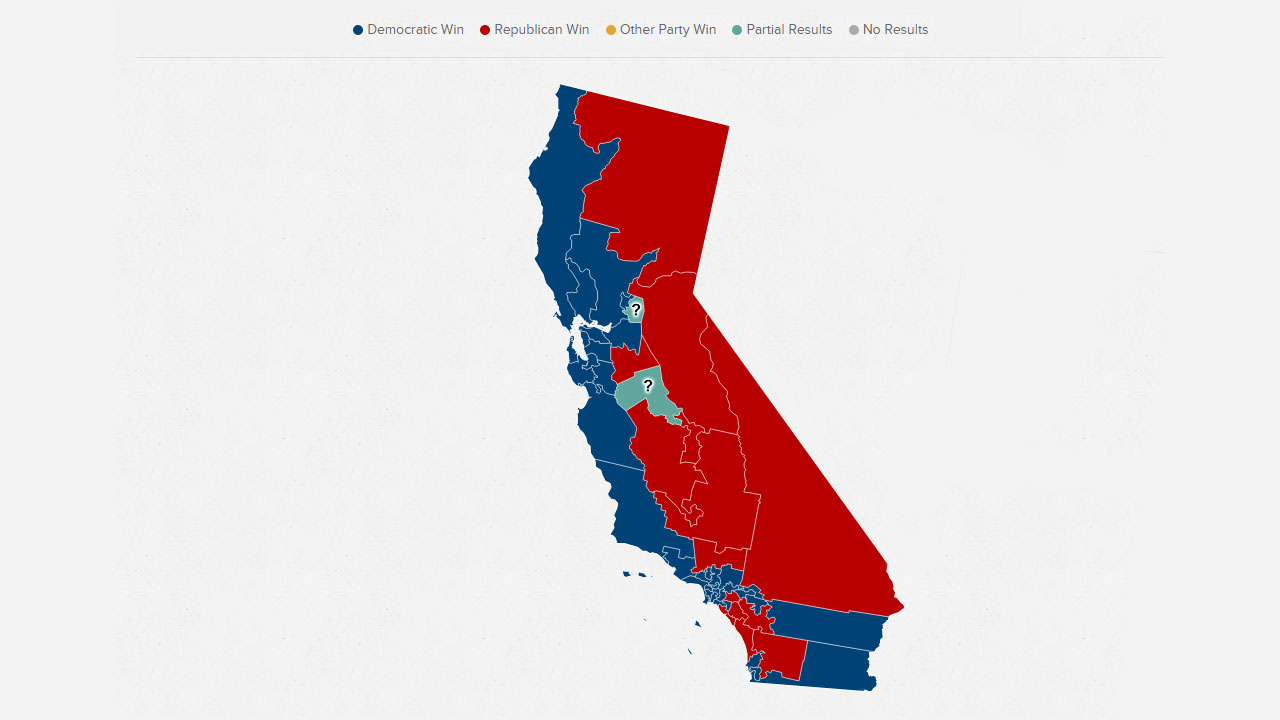 Red Vs Blue California Election  Abc30