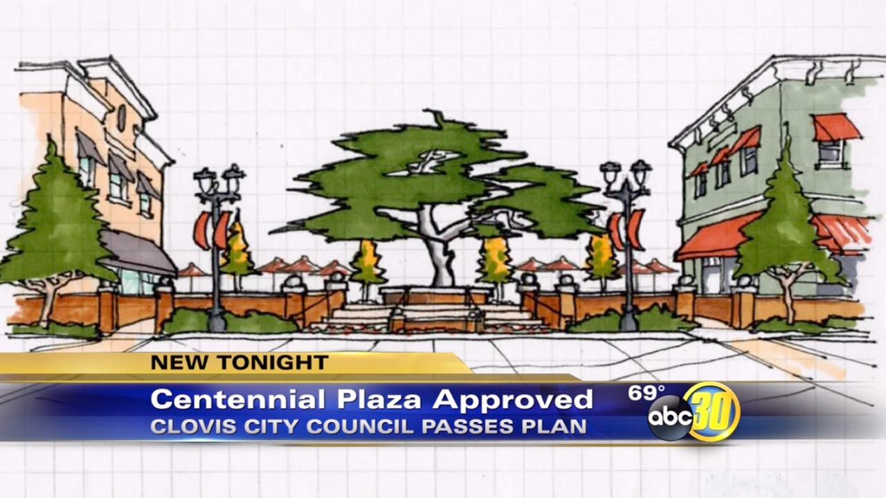 Clovis approves Centennial Plaza project
