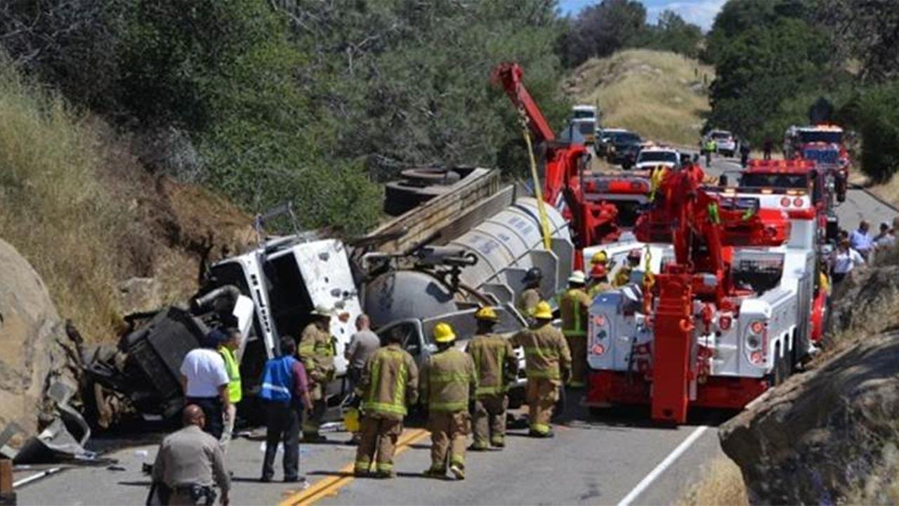 Highway 41 closed at Road 406 due to a big rig crash
