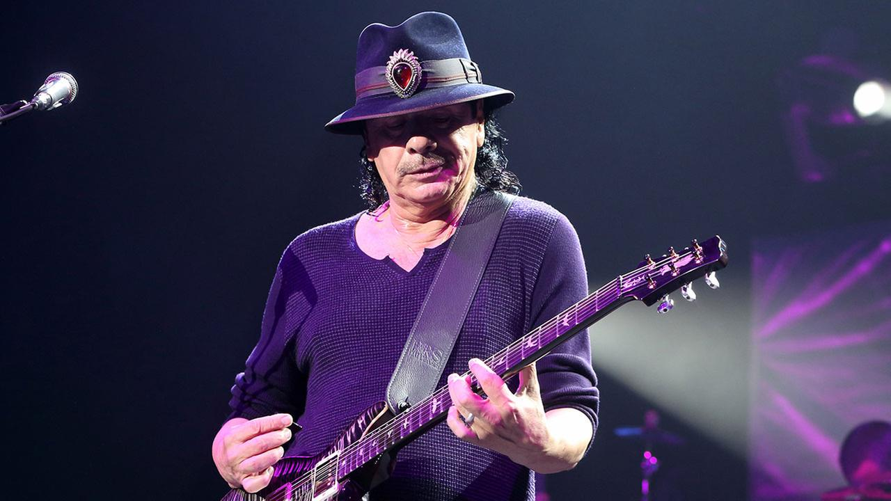 Carlos Santana performing on Monday, Oct. 13, 2014, in Baltimore. (Photo by Owen Sweeney/Invision/AP)