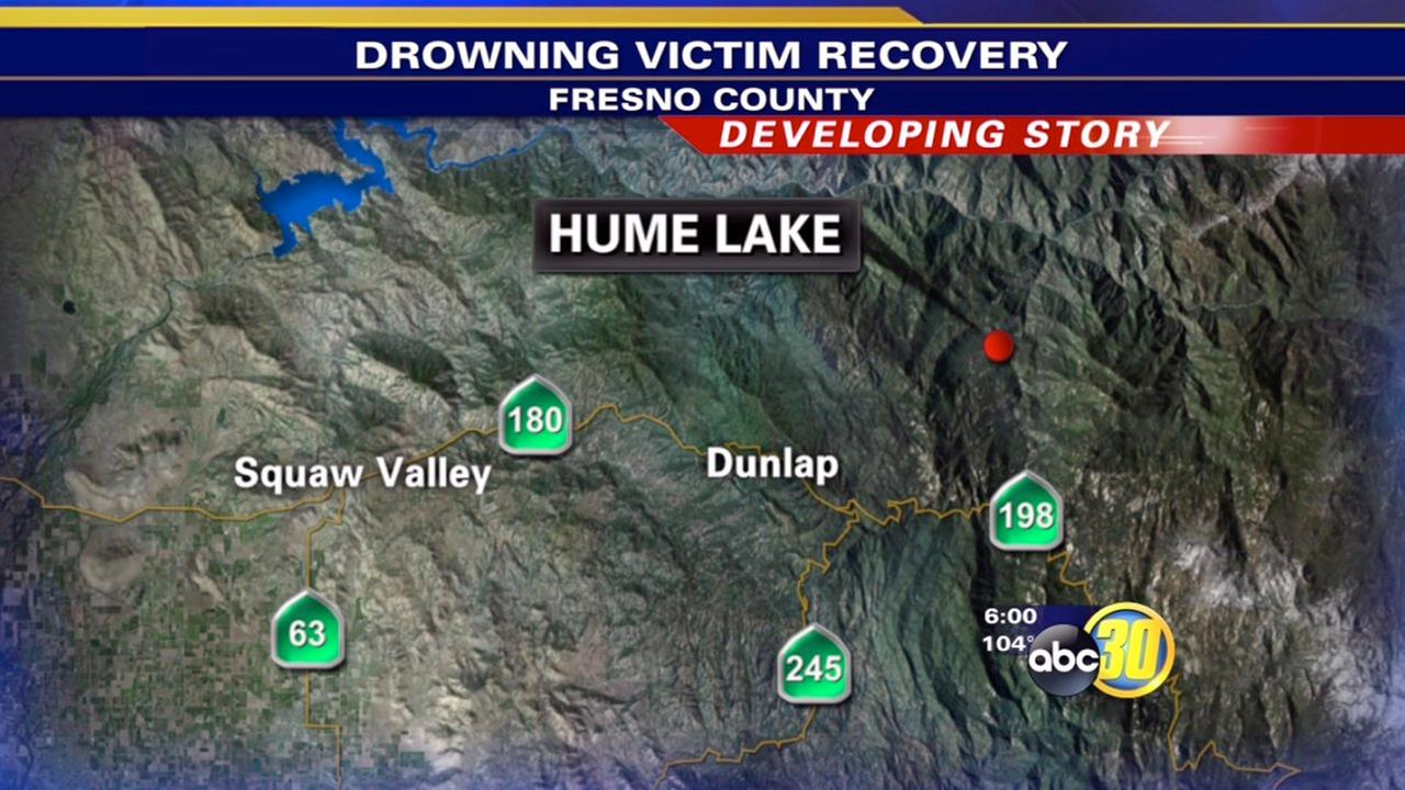 Search for Hume Lake drowning victim suspended