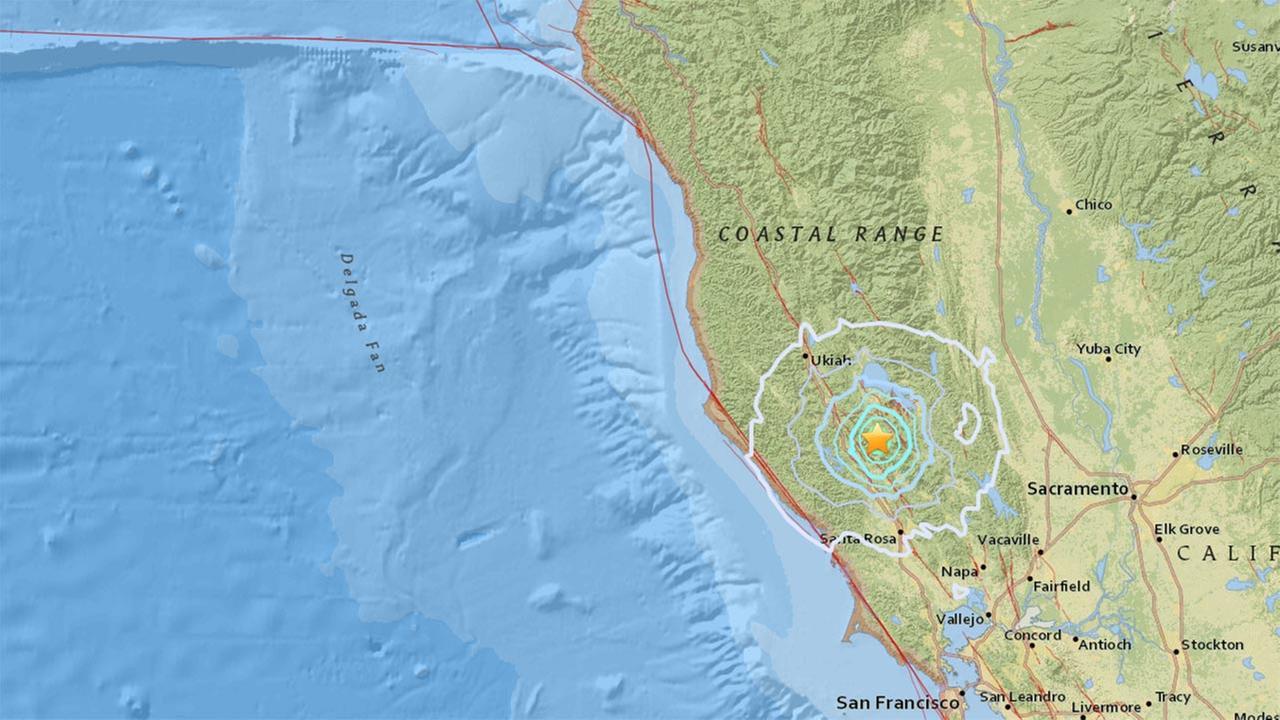 5.0 earthquake strikes near Clearlake, California