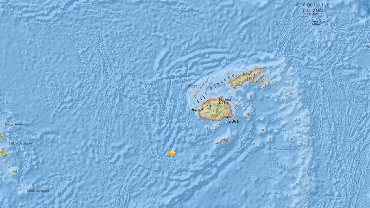 7.2 earthquake strikes near Fiji, according to USGS
