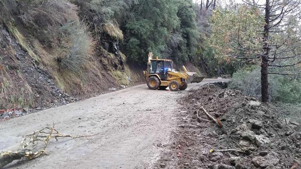 Highway 198, The Generals Highway mudslide
