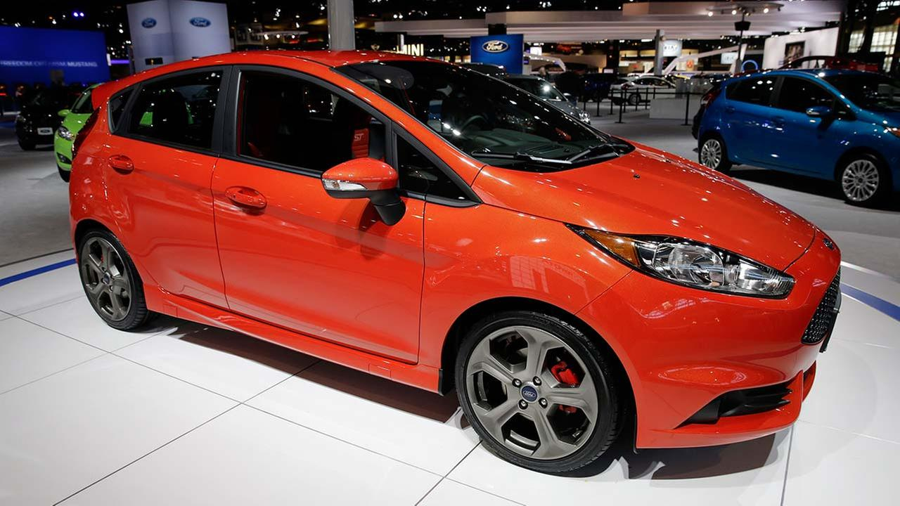 2014 Ford Fiesta Hatch ST is displayed during the media preview of the Chicago Auto Show at McCormick Place in Chicago