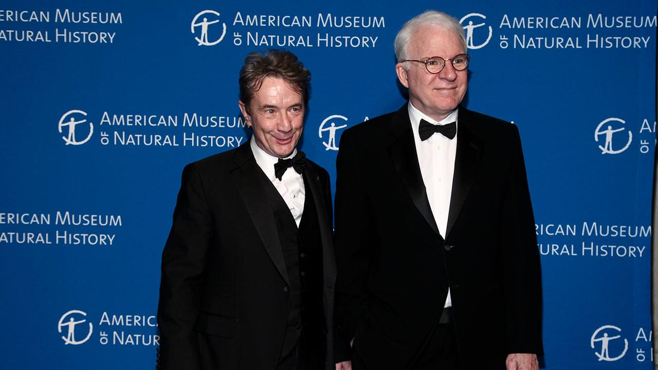 Martin Short, left, and Steve Martin, right, attend the American Museum of Natural Historys Museum Gala on Thursday, Nov. 17, 2016, in New York.