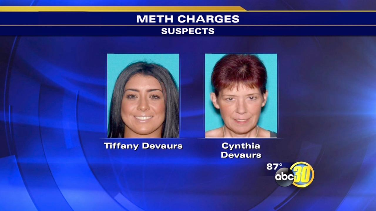 Mom and daughter arrested on meth charges in Merced - 1