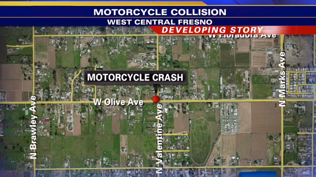West Central Fresno collision leaves 1 motorcyclist dead, 1 hurt
