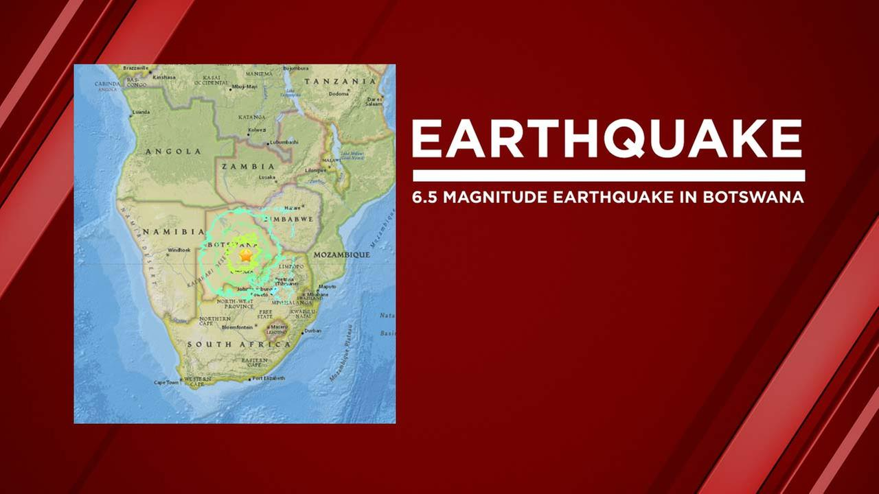 Strong Quake Strikes Remote Region of Botswana
