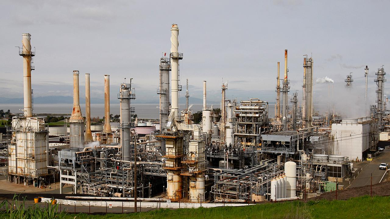 In this March 5, 2010 photo, an overview of the ConocoPhillips oil refinery is seen in Rodeo, Calif.