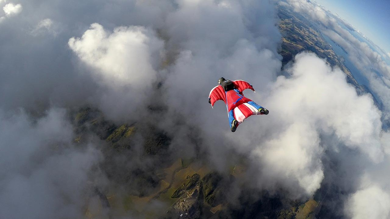 FILE - Wingsuit