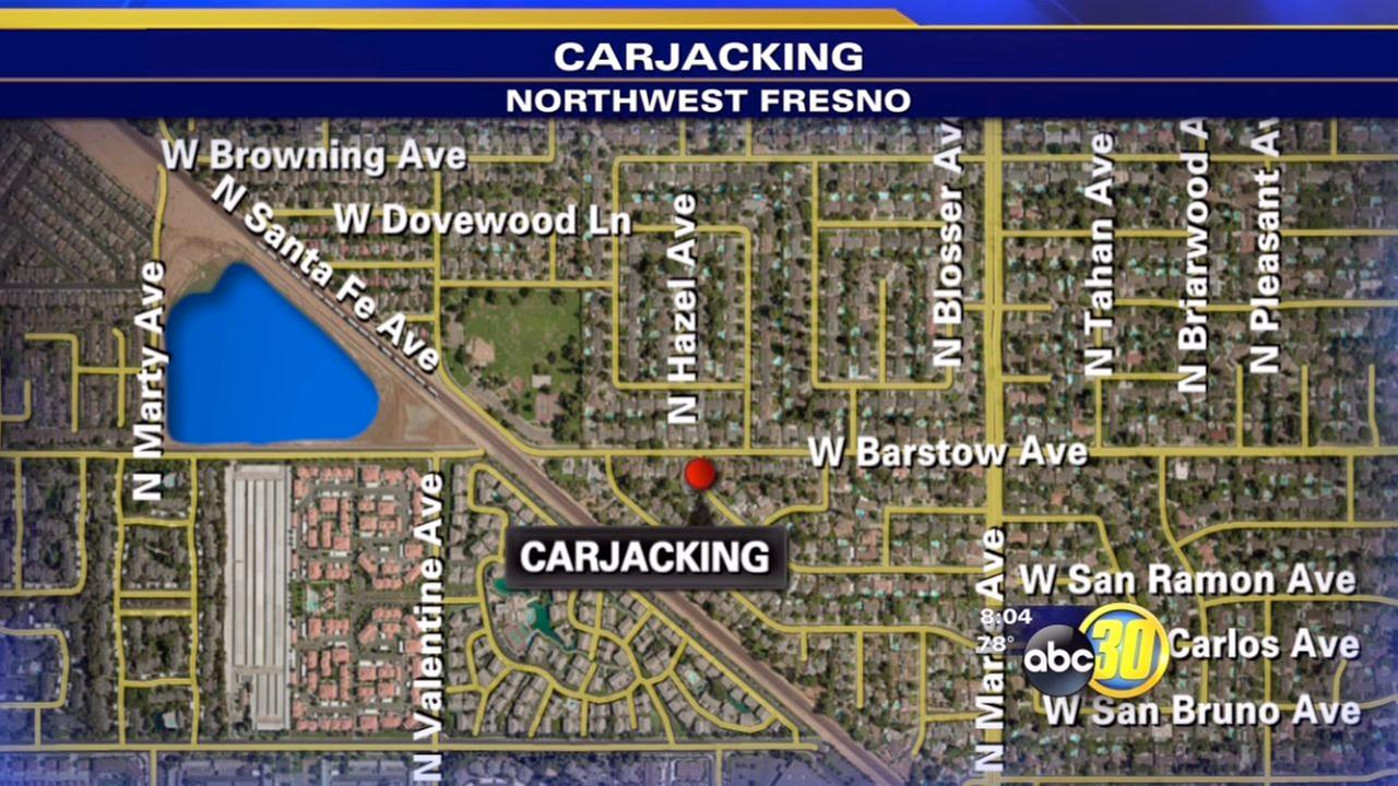 2 men sought in Northwest Fresno carjacking