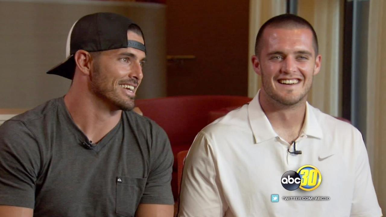 Derek and David Carr sit down to talk with Action News Sports Anchor Tommy Tran.
