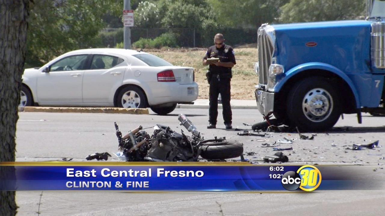 Police: Motorcyclist dies after crashing into big rig near FYI
