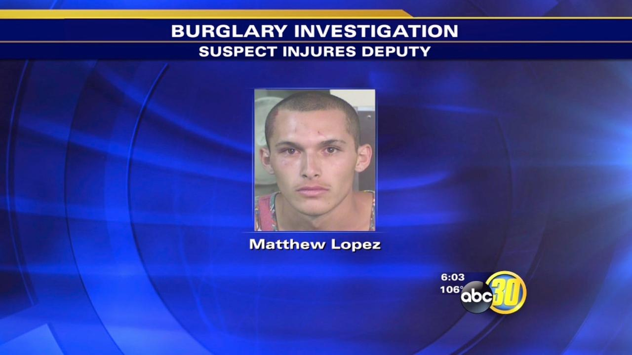 Fresno County deputy hurt in scuffle with burglary suspect