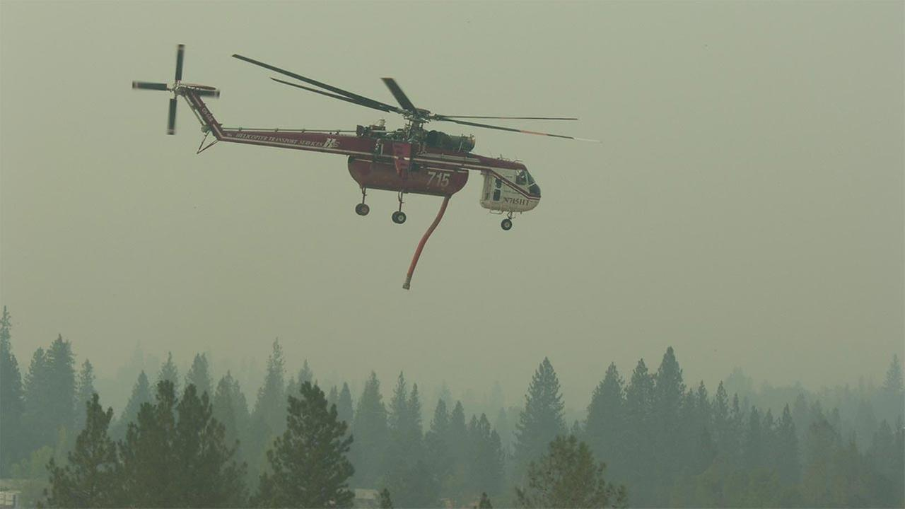 Sky Crane on the French Fire
