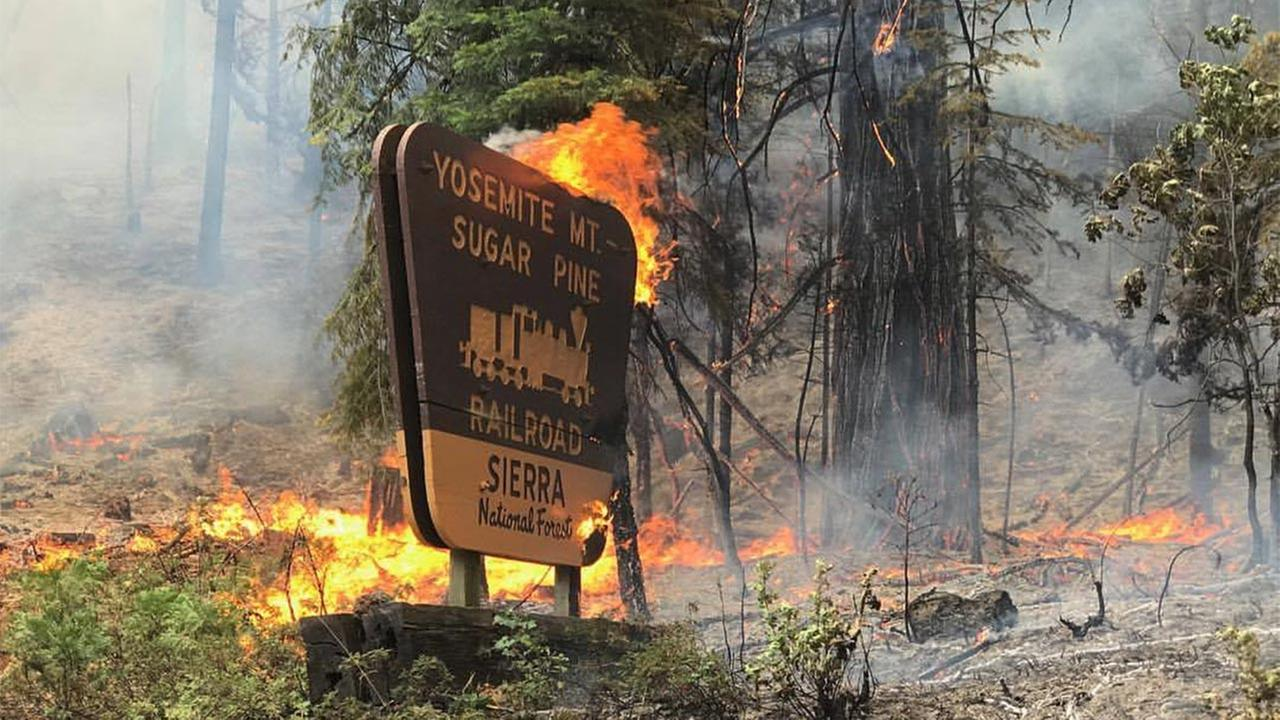 Wildfire in the area of Cedar Valley and Sugar PineMariposa County Sheriff's Office