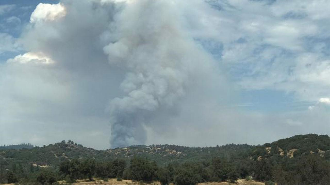 Smoke from the Railroad FireMariposa County Sheriff's Office