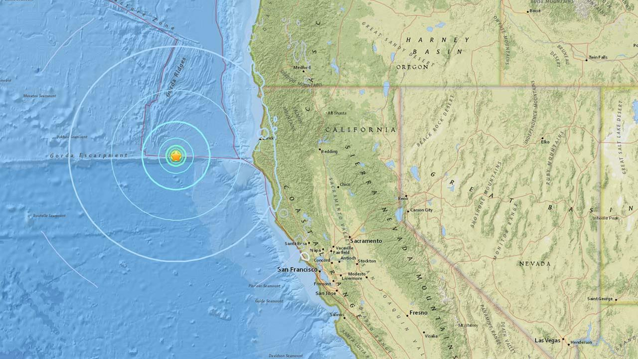 5.6 earthquake hits off the coast of Northern California