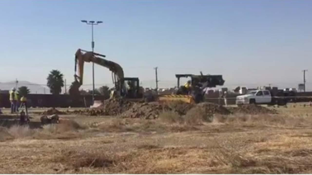 Construction of border wall prototypes begins in San Diego (VIDEO)