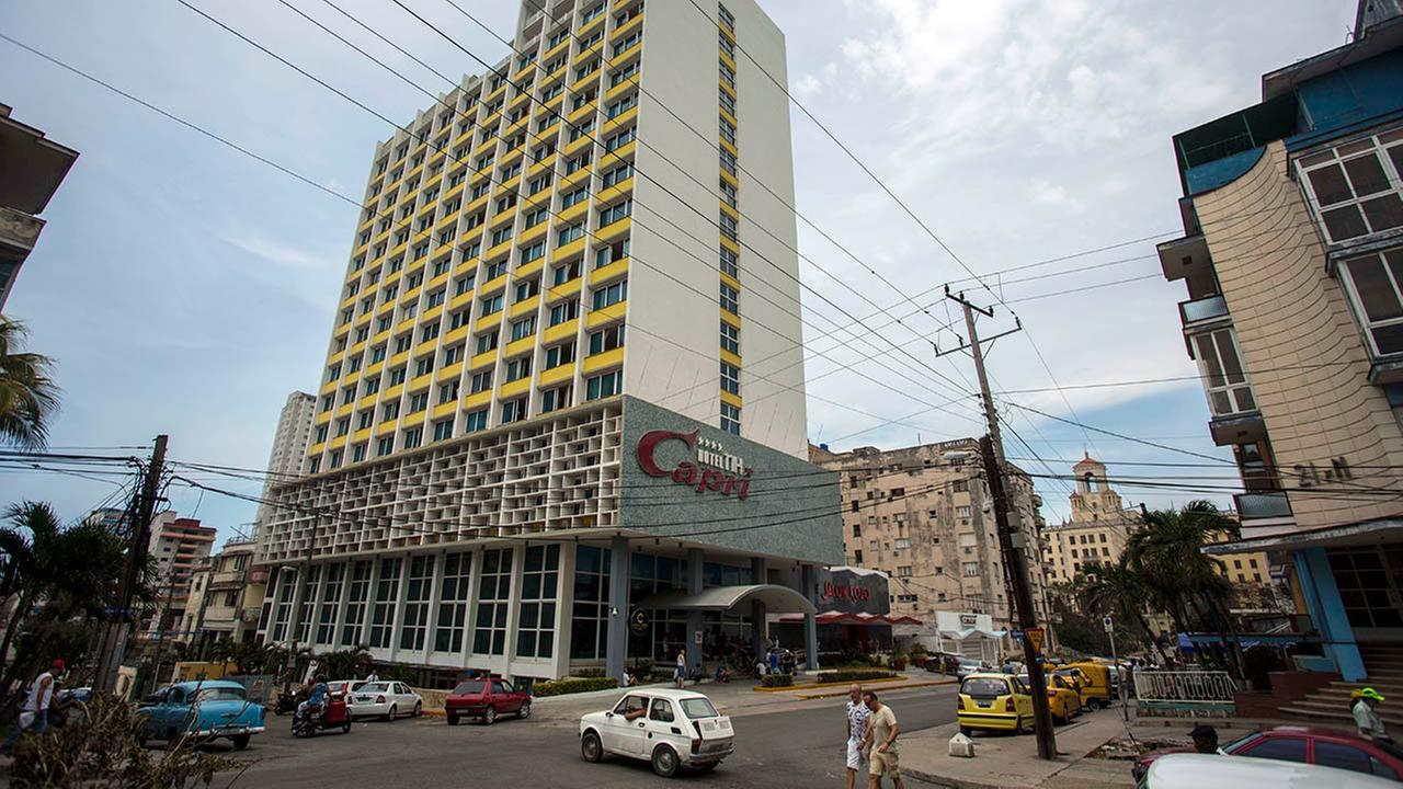 The Hotel Capri in Havana, Cuba, is photographed Sept. 12, 2017. New details about a string of mysterious health attacks on U.S. diplomats in Cuba (AP Photo/Desmond Boylan)