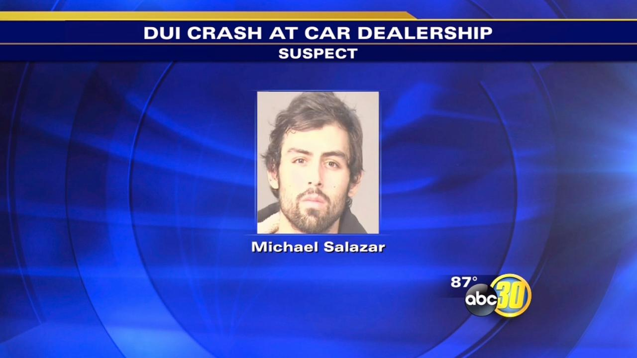 Clovis PD: Man on drugs when he crashed into dealerships cars